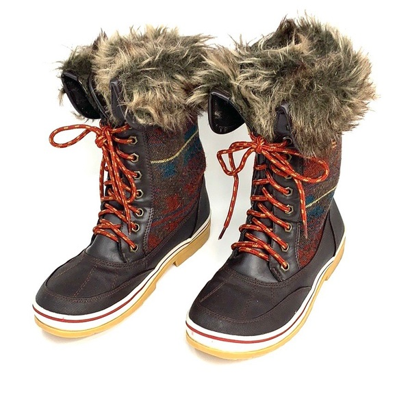 Shoes - Women's fur winter boots like sorel 10m brown